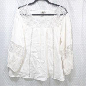 NWOT JOIE // Bellange embroidered blouse MEDIUM